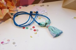 Blue Tassel Necklace $19