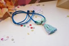 Blue Tassel Necklace $19