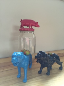 Pig $16 Animal planters $18 Other animals and colours available